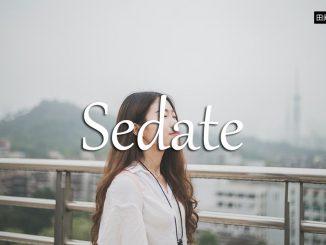 小词详解 | sedate